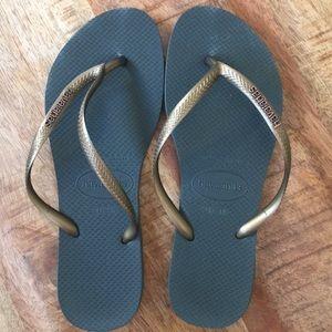 "Havaianas ""slim"" flip flops"